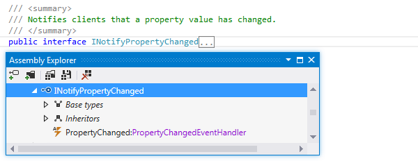 Locating a library type in the Assembly Explorer