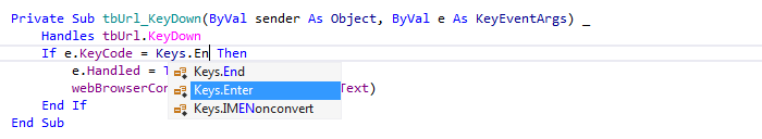ReSharper by Language Visual Basic Symbol Completion enum