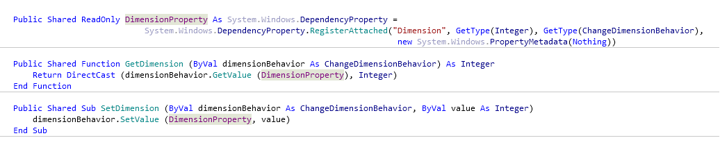 Reference Options Templates Live Templates Predefined VB NET Other attachedProperty after