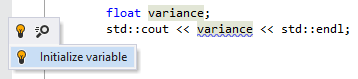 ReSharper helps initialize variables in C++