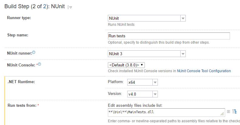 tc build step2 run tests