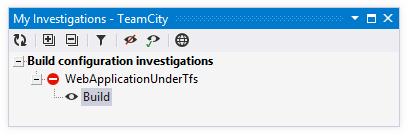 TeamCity Add-in: My Investigations window