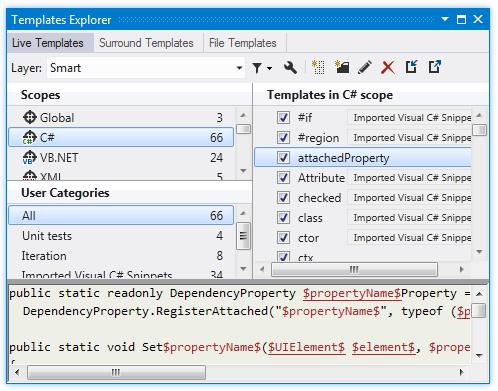 Templates Explorer - Help | ReSharper