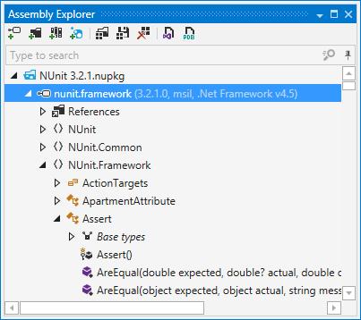 dotPeek's Assembly Explorer window
