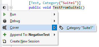 dotCover Unit Testing Recognizing Unit Tests category 01