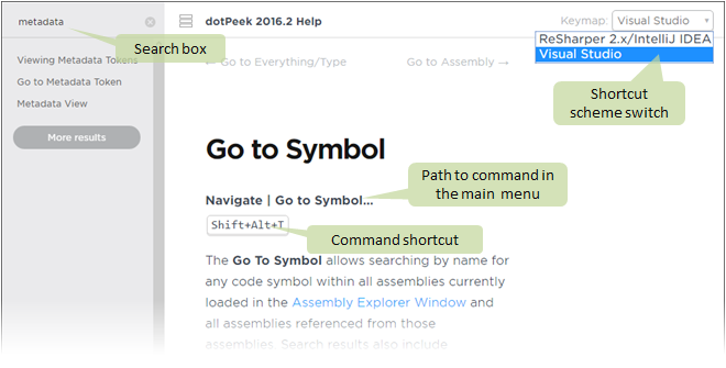 dotPeek how to use help