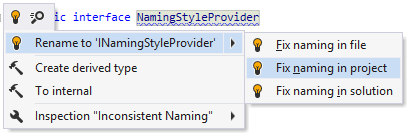 Quick-fix for naming style violation