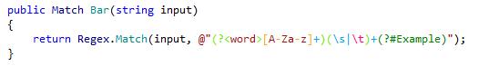 Highlighting of regular expressions
