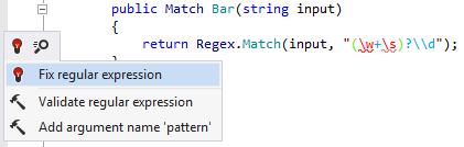 Fixing regex error with JetBrains Rider