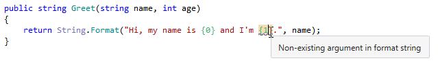 Warning for missing arguments in string formatting methods