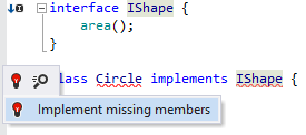 Implementing interface members in TypeScript
