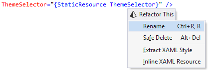 ReSharper's Rename refactoring for static resources in XAML code