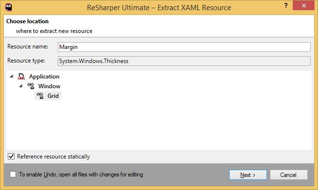 ReSharper by Language XAML Refactorings Extract Resource 02