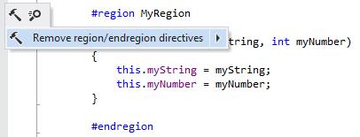 Removing region/endregion directives