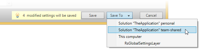 Save or Save To in ReSharper options