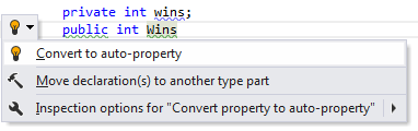 Code Analysis Examples of Quick Fixes convert to auto property 02