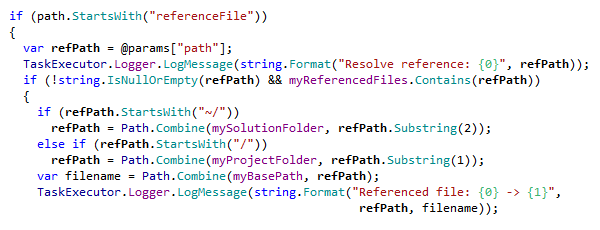 Coding Assistance Syntax Highlighting CSharp