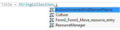 ReSharper. IntelliSense for localization resources