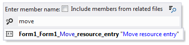 Resources Resource Navigation Go to File Member