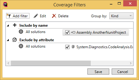dialog coverage filters