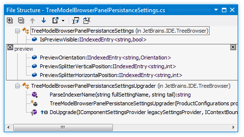 ReSharper: File Structure window
