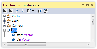 ReSharper: File Structure in TypeScript