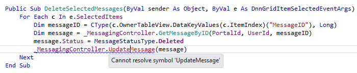 ReSharper by Language Visual Basic Code Highlighting Error