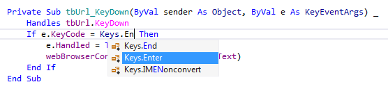 ReSharper by Language Visual Basic Symbol Completion enum
