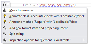 ReSharper: A quick-fix to move string literal to resource