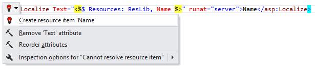 ReSharper: Create resource item quick-fix