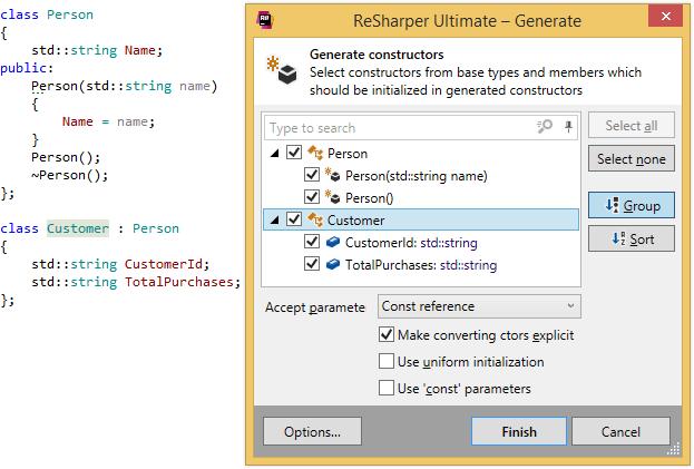 Generating constructors for C++ class