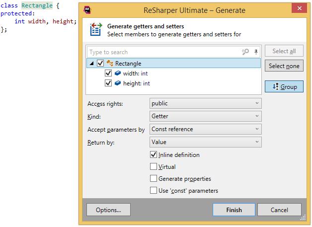 Code Generation - Help   ReSharper