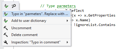 ReSharper: Detecting and fixing typos
