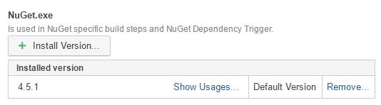 TeamCity. XUnit NuGet server