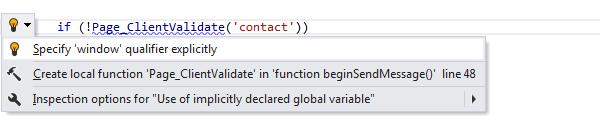 ReSharper: Specify qualifier explicitly quick-fix in JavaScript