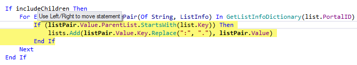 JetBrains Rider: Rearranging code in VB.NET