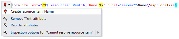 ReSharper: Create resource item quick-fix