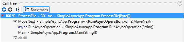 async calls backtraces