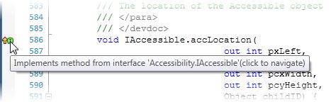 dotPeek: Navigate to base symbols from code viewer gutter