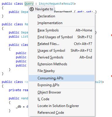 dotPeek: Navigating to consuming APIs of a type