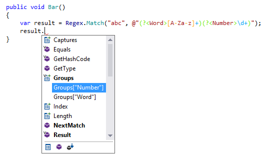 Group names completion