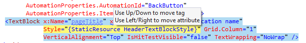 ReSharper lets you quickly rearrange elements in a XAML file