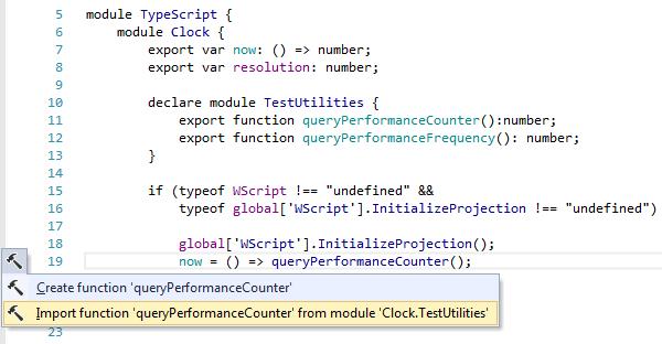 ReSharper: TypeScript context actions. Import type