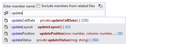 ReSharper: 'Go to File Member' in TypeScript