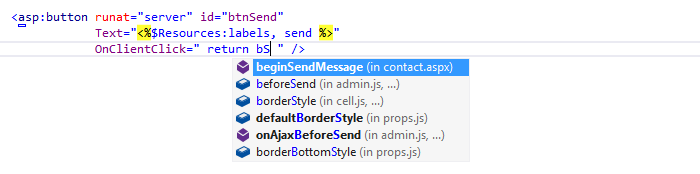 ReSharper: Code completion in ASP.NET