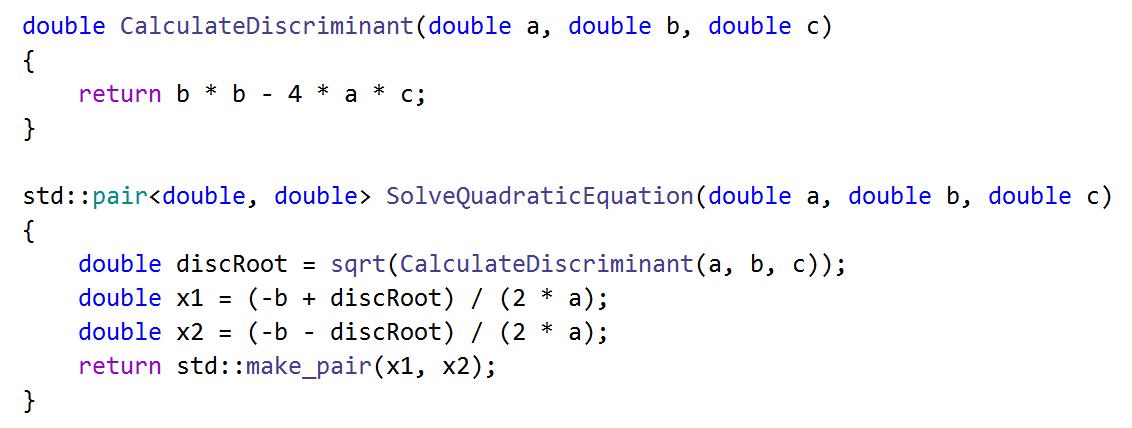 Extract method in C++: Extracted method