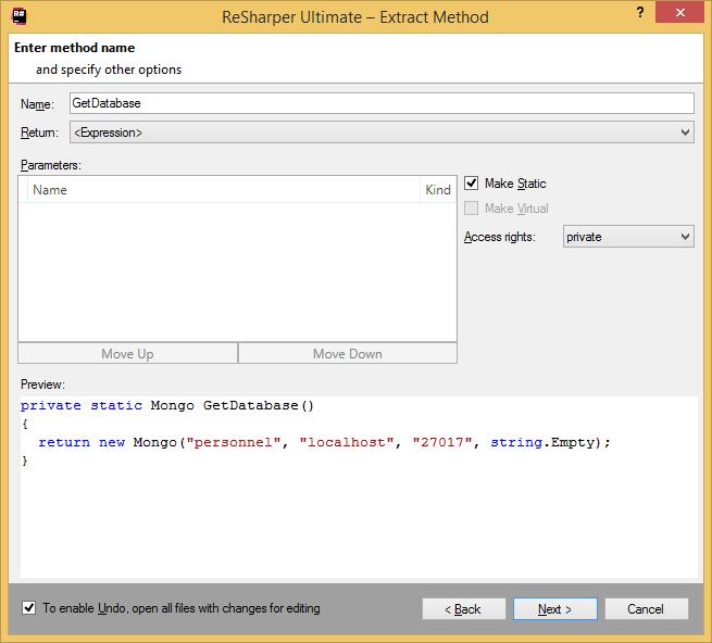 'ReSharper for data access' tutorial