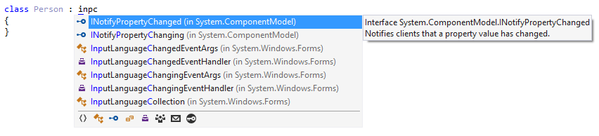 Completing interface name with CamelHumps