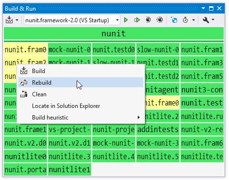 ReSharper: Solution builder window
