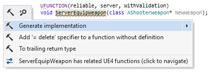 ReSharper: UE4 remote procedure calls support